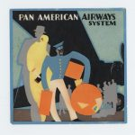 luggage label: Pan American Airways; late 1920s
