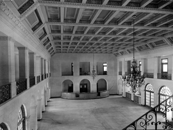 Original passenger terminal, circa 1937